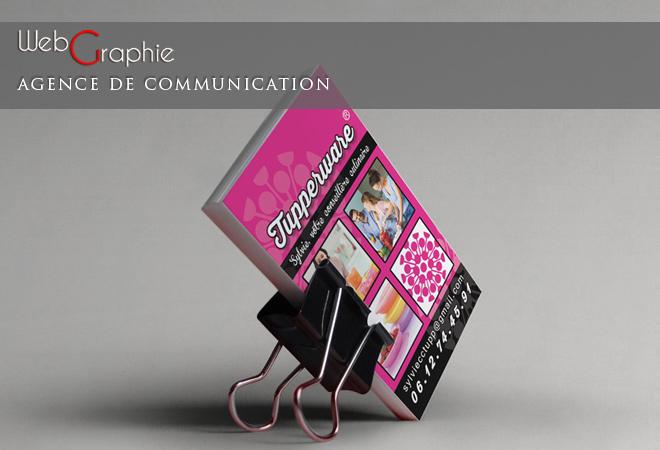 Creation Graphique Et Impression De Cartes Visite Pour Une Conseillere Tupperware A Mandelieu La Napoule